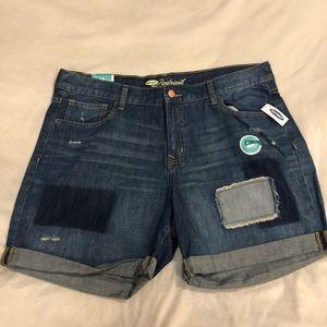 Boyfriend cuffed denim shorts